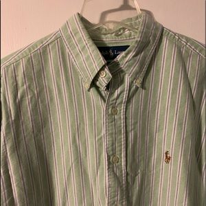 Polo Ralph Lauren green Striped shirt Classic Fit